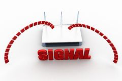 3d modem signal concept Stock Photos