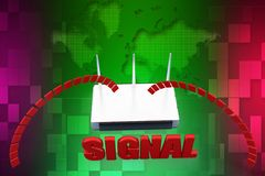 3d modem signal illustration Stock Photography