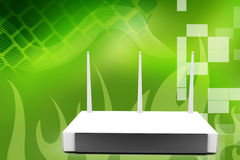 3D Modem Wifi Router Illustration Royalty Free Stock Image