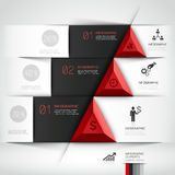 3d modern business steb origami style banner. 3d modern business steb origami style options banner. Vector illustration. can be used for workflow layout royalty free illustration