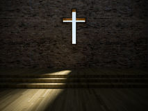 3d modern church interior Stock Images