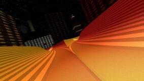3d modern city road - fast race stock footage