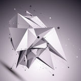 3D modern cybernetic abstract background, origami futuristic tem Royalty Free Stock Image