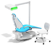 3d modern dental chair and light Royalty Free Stock Photography