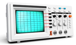 3d modern device oscilloscope. On white background Royalty Free Stock Photography