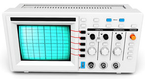 3d modern device oscilloscope. On white background Stock Image