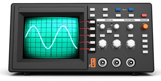 3d modern device oscilloscope. On white background Stock Photo