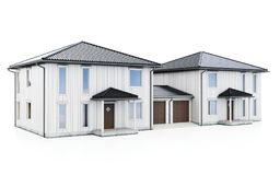3d modern duplex houses Stock Photography