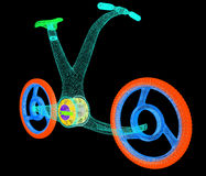 3d modern fietsconcept Stock Foto's
