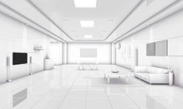 3D modern het huismilieu van de illustratie Eenvoudig manier Royalty-vrije Stock Afbeeldingen
