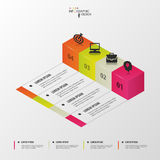 3d Modern infographics options. Vector template Stock Photography