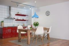 3d - modern keukenbinnenland - geschotene 31 Stock Foto