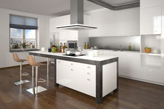 3D - modern kitchen 03 Royalty Free Stock Photo