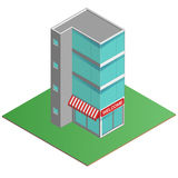 3D Modern office building, business center in the isometric projection. Stock Images