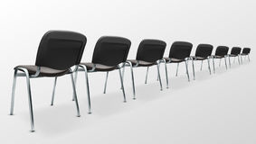 3D Modern Office Chair Black Cloth. Back View. 3D Modern Office Chairs Black Cloth. Back View. EPS10 Vector Royalty Free Stock Images