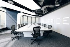 3d modern office conference room royalty free stock image