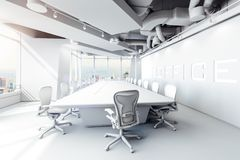 3d modern office conference room vector illustration