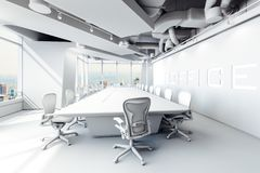 3d modern office conference room royalty free stock photos