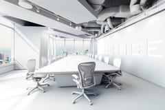 3d modern office conference room. Setup vector illustration