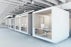 3d modern office interior. Render vector illustration