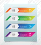 3D modern step square infographic with paper effect concept for finance corporate. Step infographic can be used for presentation, vector illustration