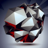 3D modern stylish abstract construction, origami facet object co Royalty Free Stock Photo