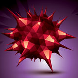 3D modern stylish abstract construction, origami facet object co. Nstructed from different geometric parts vector illustration