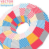 3D modern stylish abstract stripy background, origami facet vect. Or object constructed from different geometric parts Stock Photo