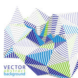 3D modern stylish abstract stripy vector background, origami fac Stock Photos