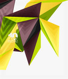 3d modern triangle low poly abstract geometric vector Royalty Free Stock Images