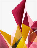 3d modern triangle low poly abstract geometric vector. 3d modern triangle low poly abstract shape, geometric vector Royalty Free Stock Images
