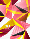 3d modern triangle low poly abstract geometric vector. 3d modern triangle low poly abstract shape, geometric vector vector illustration