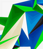 3d modern triangle low poly abstract geometric vector Royalty Free Stock Photo