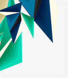 3d modern triangle low poly abstract geometric vector Royalty Free Stock Photos