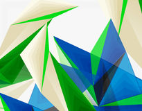 3d modern triangle low poly abstract geometric vector Stock Photos