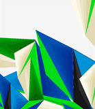 3d modern triangle low poly abstract geometric vector Stock Photography