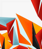 3d modern triangle low poly abstract geometric vector. 3d modern triangle low poly abstract shape, geometric vector royalty free illustration