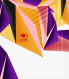 3d modern triangle low poly abstract geometric vector. 3d modern triangle low poly abstract shape, geometric vector Stock Photos