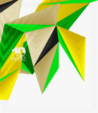3d modern triangle low poly abstract geometric vector Stock Photo