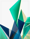 3d modern triangle low poly abstract geometric vector Royalty Free Stock Image