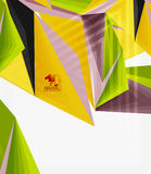 3d modern triangle low poly abstract geometric vector. 3d modern triangle low poly abstract shape, geometric vector stock illustration