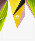3d modern triangle low poly abstract geometric vector. 3d modern triangle low poly abstract shape, geometric vector Royalty Free Stock Photography