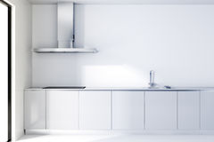 3d modern white kitchen Stock Image