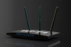 3d Modern WiFi Router Royalty Free Stock Photography