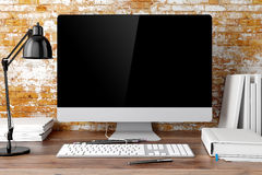 3d modern workplace Royalty Free Stock Images