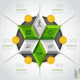 3d moderne malplaatje van de bedrijfsdiagramcirkel. vector illustratie