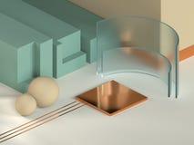 3D moderne minimale ontwerp van studio geometrische cijfers stock illustratie