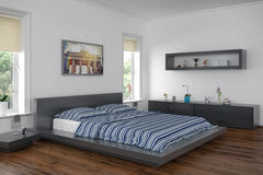 3d - moderne slaapkamer Royalty-vrije Stock Foto's