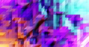 3d modernes rendent le modèle géométrique, conception colorée d'affiche de mosaïque illustration libre de droits
