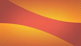 3d moderno abstrato que rende a animação loopable O fluxo amarelo e a laranja alinham o fundo definição 4K video estoque